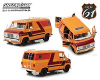 Highway 61 1/18 1976 Chevrolet G-Series Van Orange &  Custom Graphics HWY-18012
