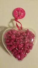 Pink Heart Shaped PUSH PINS Bulletin Cork Board TACKS School Supplies Desk NEW!