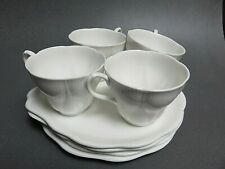 Royal Albert Morning Star tennis snack set all White Shelley Dainty shape cup