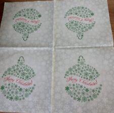 Pk 4 Dinner Napkin - Christmas Bauble