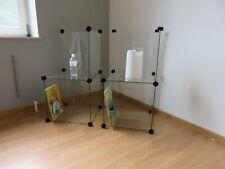 2 Tables de chevet complément en verre modulables