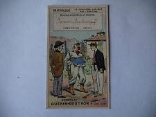 CHROMO PUBLICITAIRE CHOCOLAT GUERIN-BOUTRON N°183 GRAPHOLOGIE