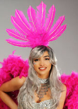 Rio Carnival Showgirl Pink Feather Headpiece