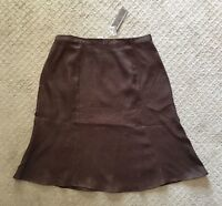 NWT Women's Gillian Grey Knee Length 100% Linen Skirt-Several Colors!