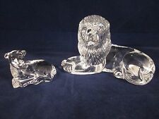 WATERFORD CRYSTAL Lamb & Lion Set ~ EXCELLENT