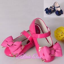 Bow Mary Janes Shoes Toddler US Size 6.5-13 EU 22.5-30 Flower Girl Pageant GS013