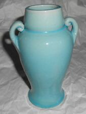 Antique Japan Awaji Turquoise Blue Arts & Crafts Pottery Vase