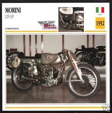 1952 Moto Morini 125cc GP Grand Prix Italy Race Motorcycle Photo Spec Info Card