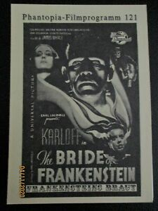 PHANTOPIA + 121 + BRIDE OF FRANKENSTEIN + BORIS KARLOFF + GERMAN +