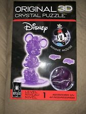 Disney Minnie Mouse 3D Crystal Jigsaw Puzzle Bepuzzled 42-Pieces Free Ship