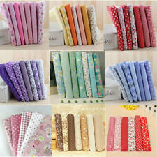 7Pcs DIY Colourful 100% Cotton Fabric Assorted Pre-Cut Fat Quarters Bundle