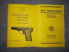 Descrizione pistola Browning modello 1922 CAL. 7,65 & 9mm & modello HP CAL. 9mm