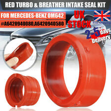 uk 2pcs Red Turbo Intake Seal Red Rubber For Mercedes-Benz OM642 #A6420940080