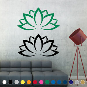 Lotus Flower Yoga Decal Sticker Symbol Buddhism Wall Door Room House Decor V3