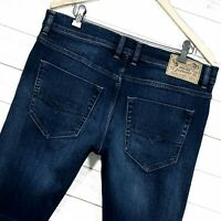 ⭐ Mens Diesel Tepphar regular Slim carrot blue denim jeans RB041 size W34 L32