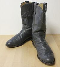 "Men's Justin Gray Cowboy Boots Roper Size 5 ½"" C"