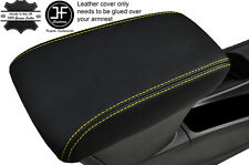 YELLOW STITCHING LEATHER ARMREST COVER FITS VAUXHALL OPEL ASTRA K MK7 2016+