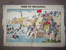 GRANDE IMAGE EPINAL 1880 PRISE DU TROCADERO