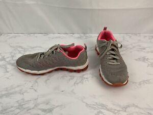 Skechers Skech-knit Sneakers Womens Size 7 Running Pink Gray Shoes K1
