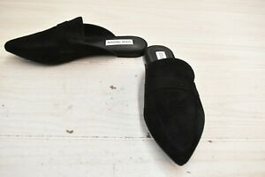 Steve Madden Flavor Mule Flats, Women's Size 7M, Black Suede