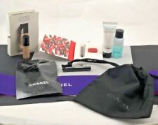 CHANEL SET OF 6 SAMPLES/MASCARA/GLOSS/REMOVER/FOUNDATION/BRUSH/CLEANSER/POUCH