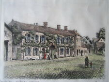 Early 20thc Coloured etching Barbizon Auberge Ganne, France by Maurice Jacques