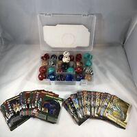 Bakugan box with 27 Bakugan, 30 Metal cards and 33 Paper Cards Carrying Case