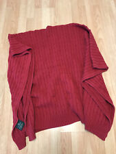 Ralph Lauren 100% Cotton Cable Knit Throw Red 50x70 Excellent Condition