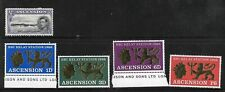 COLLECTION OF 5 MINT ASCENSION ISLAND STAMPS