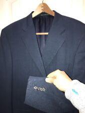 $2895 Rare Ermenegildo Zegna Navy Wool Suit 46S Surgeon Cuffs