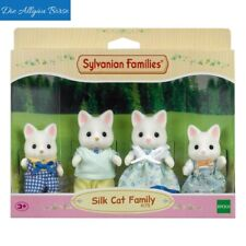 Sylvanian Families 4175 Doll's House Figures Silk Cat Family Parents New Boxed