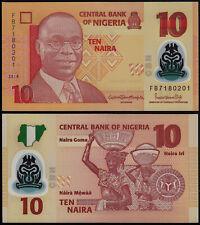 NIGERIA 10 NAIRA (P39) 2018 POLYMER UNC