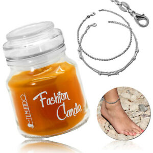 Tumundo Fashion Candle Scented Candle Anklet Foot Anchor Chain Silver Ladies