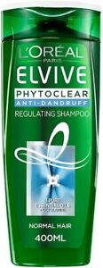 L'Oreal Elvive Phytoclear Anti-Dandruff Regulating Shampoo, 400 ml Normal Hair