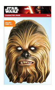 Chewbacca Official Star Wars Single CARD 2D Party Face Mask wookiee