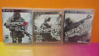 Sniper Ghost 1 + 2 + Sniper Elite V2 Game Lot - Sony PlayStation 3 PS3 - Tested