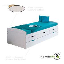 Massivholzbett 90x190 cm Jugendbett Kinderbett Bett Funktionsbett Kiefer massiv