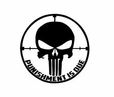 stickers autocollant skull cible punisher moto casque tel voiture-coule o choix