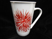 Starbucks 2014 Holiday Red Starburst Fireworks 17.8 oz Coffee Mug Tea Cup