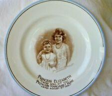 "Vintage Paragon China Plate Princess Elizabeth & Margaret Rose, 6 1/4"" - Rare!"