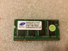 Memoria Sodimm DDR Greencom 2DS64644063216CG-696 512MB PC3200 400MHz CL3 200-Pin