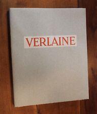 1942 Verlaine Femmes Amies Oeuvres libres Berthommé Saint André Rare 1/100 ex.