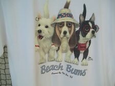 """Beach Bums"" Dogs T-Shirt Ormond by the Sea, Fl  Size: Small"