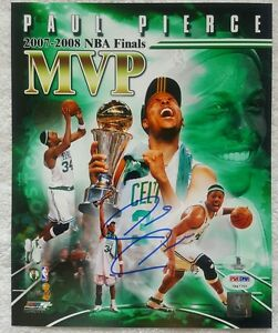 Paul Pierce Signed Boston Celtics Basketball 8x10 Photo NBA 2008 Finals MVP PSA