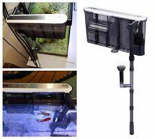 3-In-1 Hang-On Aquarium Fish Tank Filter Submersible External Water Pump Quiet