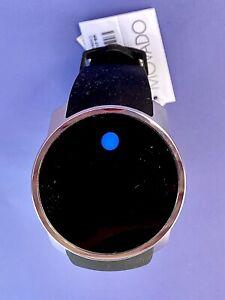 NIB Movado 3600146 Bold Touch Screen Digital Dual Time Black Silicone Mens Watch