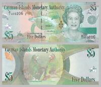 Kaimaninseln / Cayman Islands 5 Dollars 2010 p39a prefix D/1 unz.