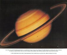 NASA Photographic Card Print of Saturn taken by Voyager 2 by Earth 2000 Ltd 1998