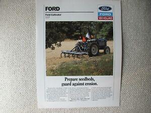 1989 Ford 117 field cultivator specification sheet brochure
