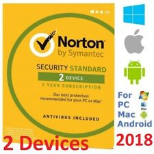 Norton SECURITY STANDARD 2018 2Device AntiVirus for Windows Mac Android iPhone